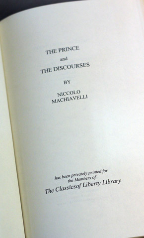 the prince and the discourses and Other articles where discourses on the first ten books of livy is discussed: niccolò machiavelli: the discourses on livy: like the prince, the discourses on livy.