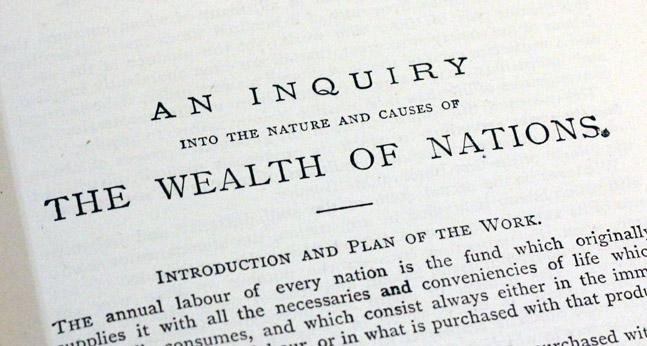 wealth of nations adam smith Adam smith, född 16 juni  the wealth of nations av adam smith institute works and correspondence of adam smith glasgow edition, av online library of liberty.
