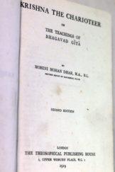 Krishna the Charioteer – Mohini Mohan Dhar (1919)