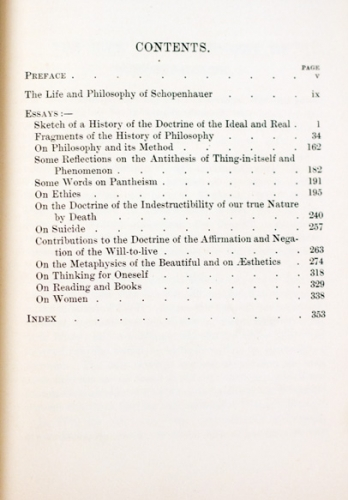 selected essays of arthur schopenhauer  1891   u2013 gohd books