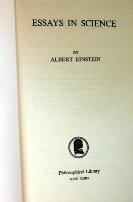 essays in science  albert einstein   gohd books prev